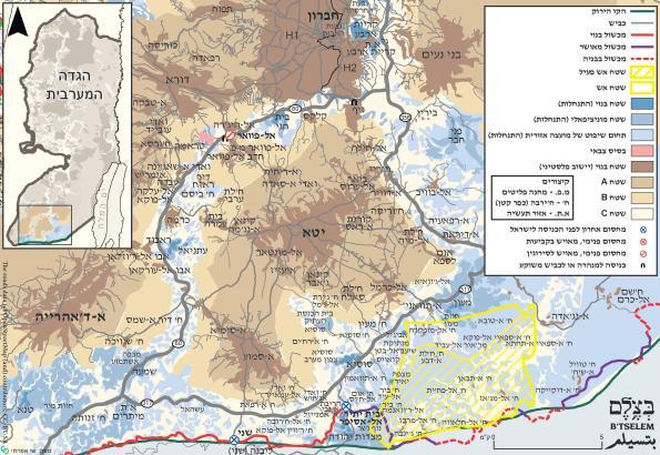 דרום הר חברון - לחצו להגדלה.
