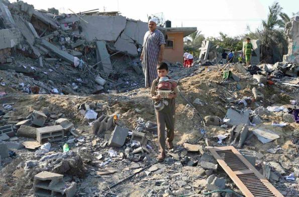 חאן יונס, 8.7.2014. צילום: רויטרס