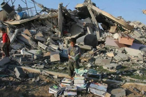 עזה, 13.7.2014. צילום: Middle East Children's Alliance