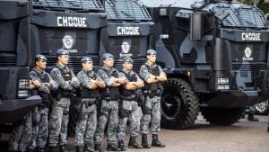 """קווירוס תוצרת """"פלסן"""" הישראלית בשירות המשטרה הצבאית בסאו פאולו."""
