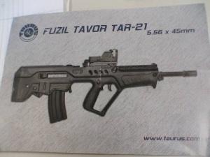 """רובה """"תבור"""" תוצרת חברת """"טאורוס"""" הברזילאית."""