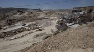 מחצבה פלסטינית בבית פאג'ר. צילום: נאסר נאסר/איי-פי