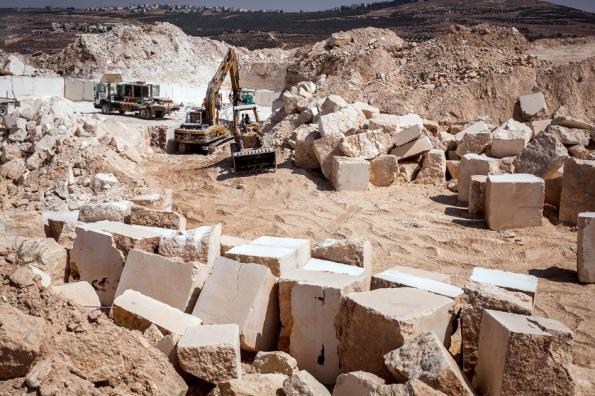 מחצבה פלסטינית בשטח C. צילום: HRW